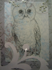 snow owl in outline