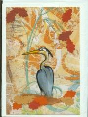 Heron with brown hues