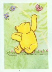 Pooh & butterfly, small card