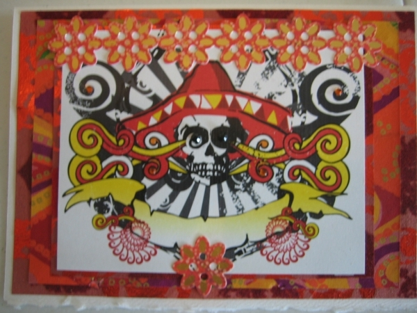 Day of the Dead, orange and red