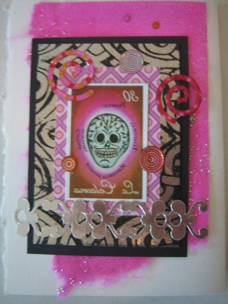 Day of the Dead skull, pink