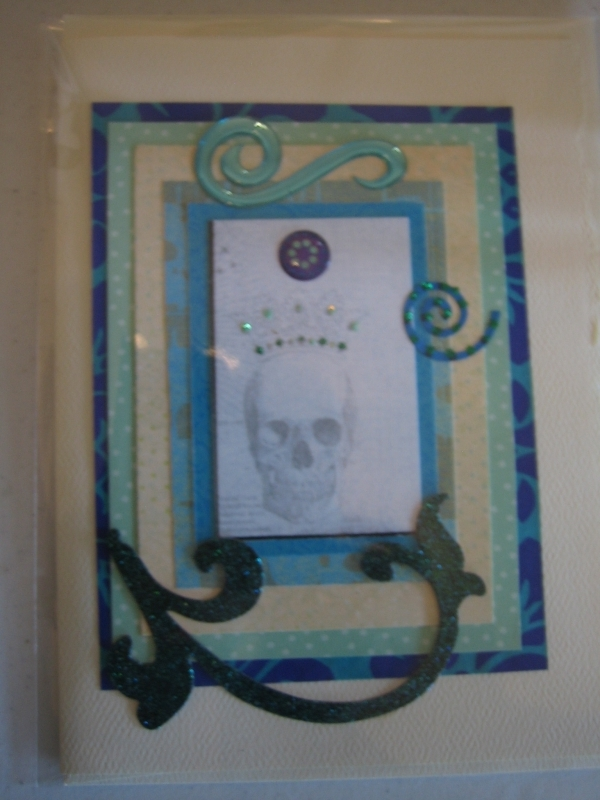 Day of the Dead, blue skull