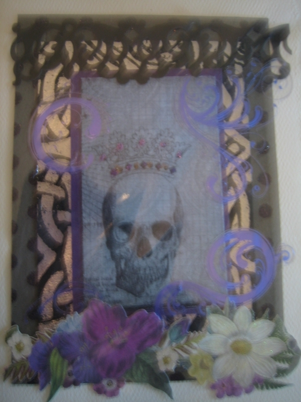 Day of the Dead, skull with crown