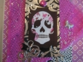 Pink skull with bright pink, metallic