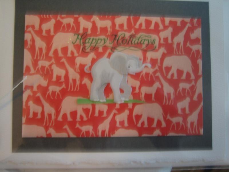 Young elephant, Season's Greetings