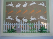 Rabbits and watering can