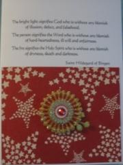 Hildegard, red stars and mandala