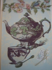 Elegant teapot and cup