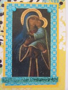Wabi-Ware Custom Card Black Madonna Della Vena