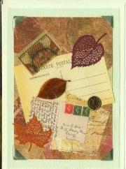 Autumn postal collage