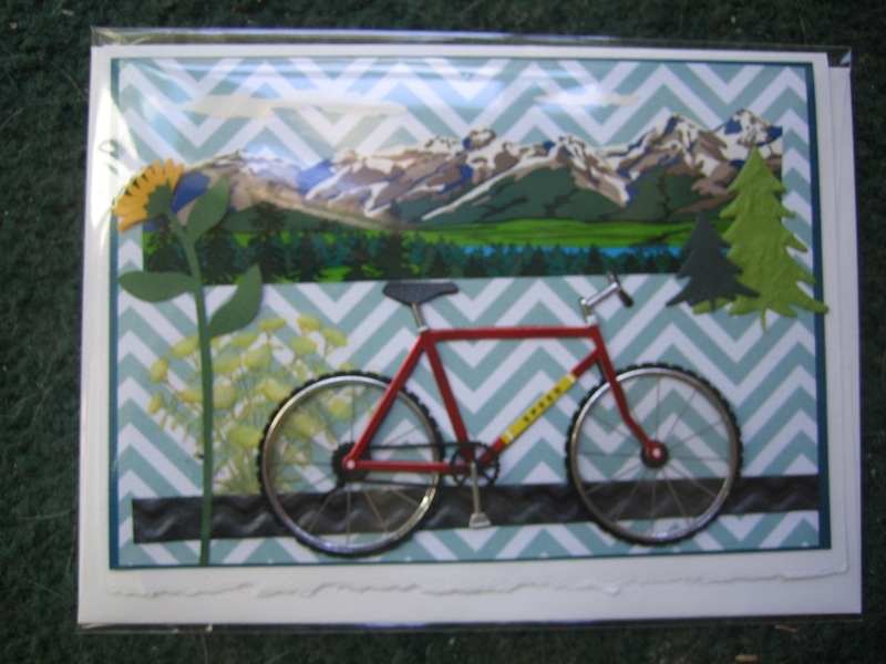 bike in the foothills