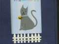 gray cat with fence, window card