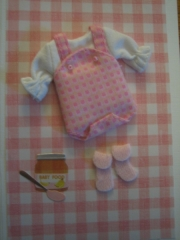 Pink baby, booties