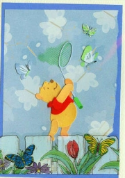 Pooh catching flutterbies