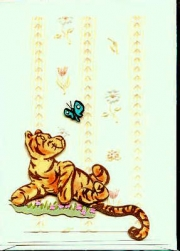 Tigger and butterfly