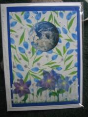 Spring blue flower equinox