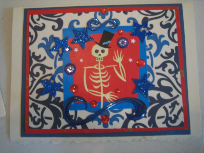 Red and blue skeleton