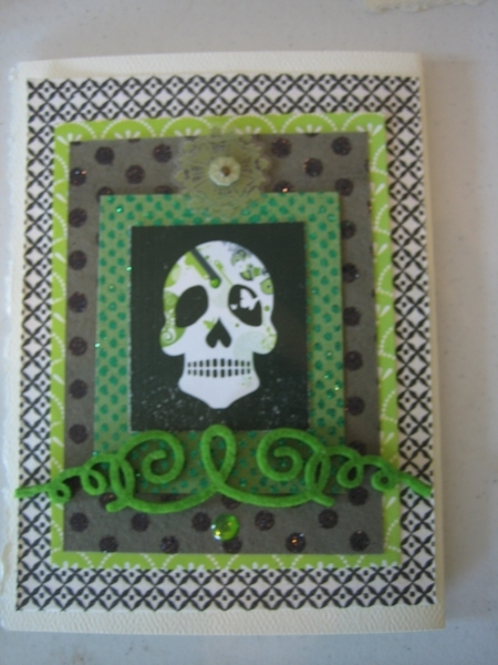 Day of the Dead, skull, green