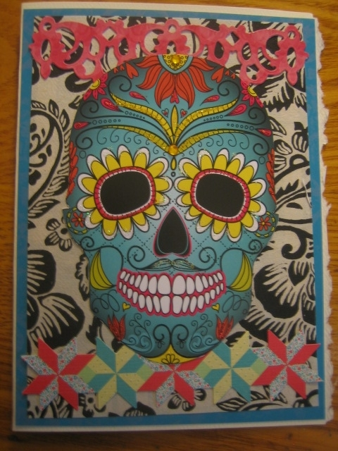 Blue skull