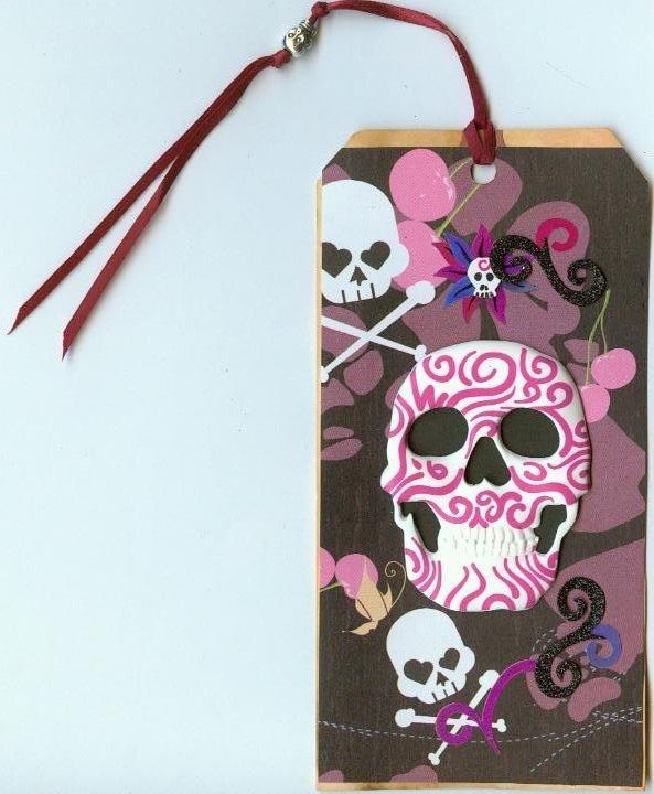 pink-violet-skull tag