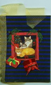 blue_cat_christmas_handmade_paper_book