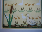 Duck and cattails
