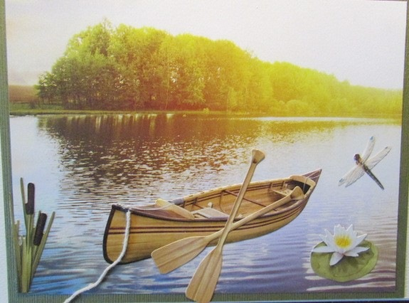 Canoe-and-cattails-water-lily
