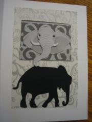 black elephant with overhead