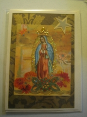 Our Lady with flowers