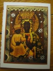 Black Madonna card