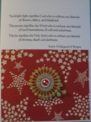 Hildegard, red stars and mandala