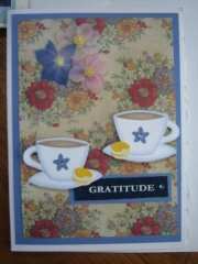 cups with GRATITIDE
